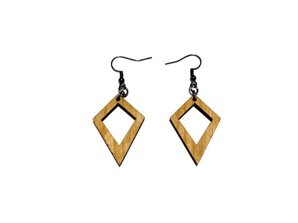Image of KITE WOODEN EARRINGS