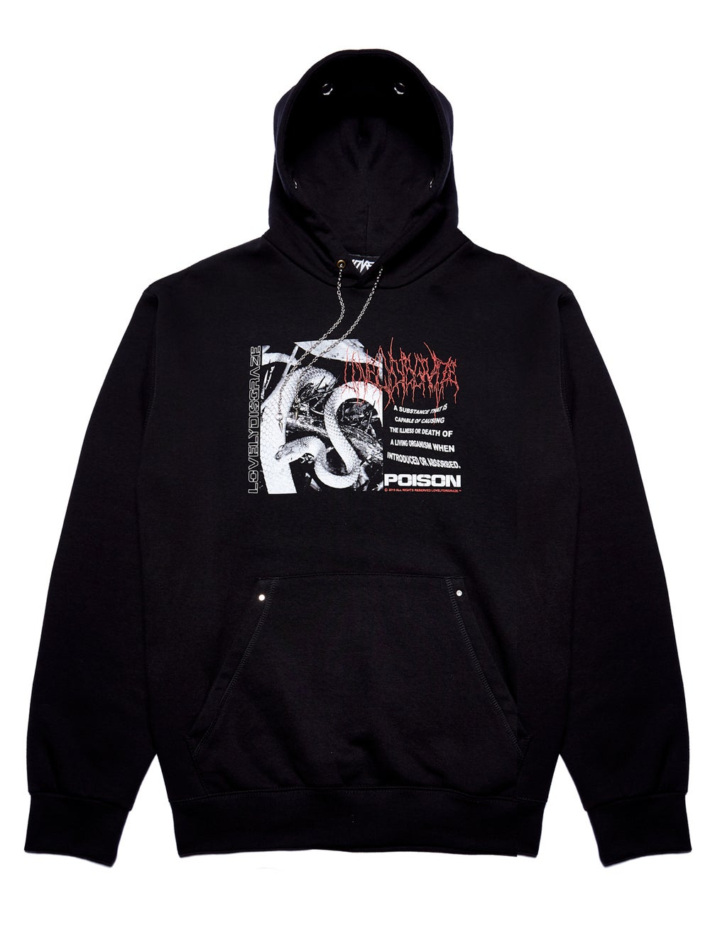 Image of BLACK POISON HOODIE