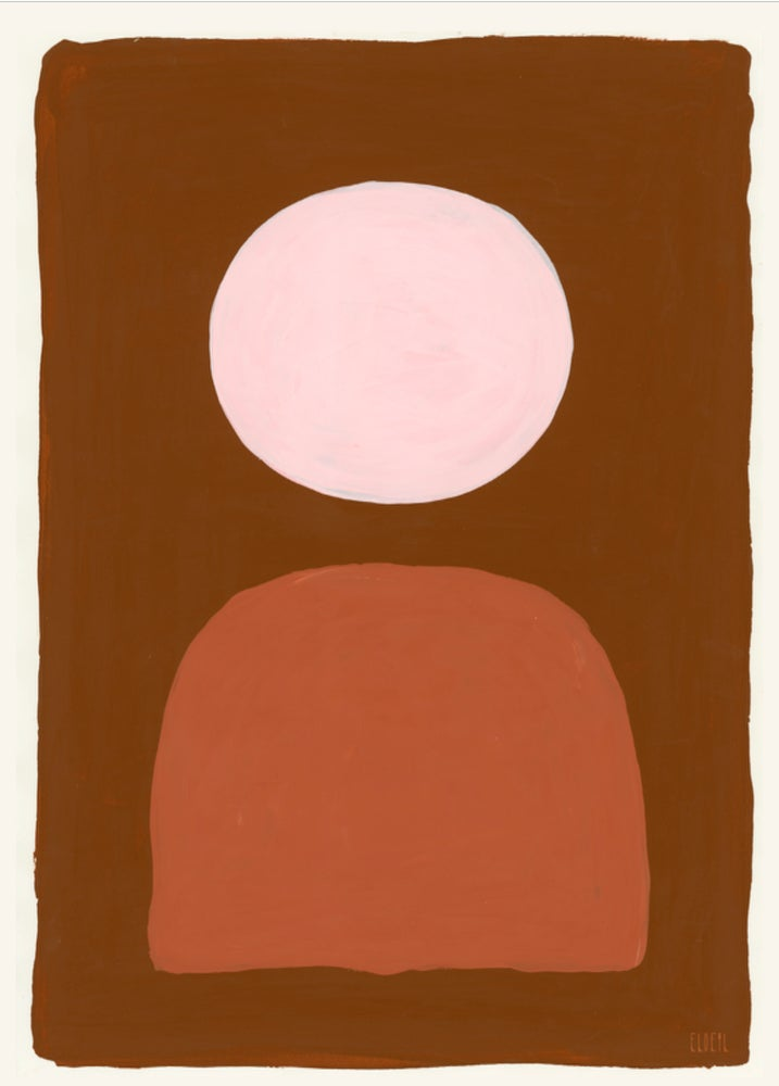 Image of art print :: moon/mountain