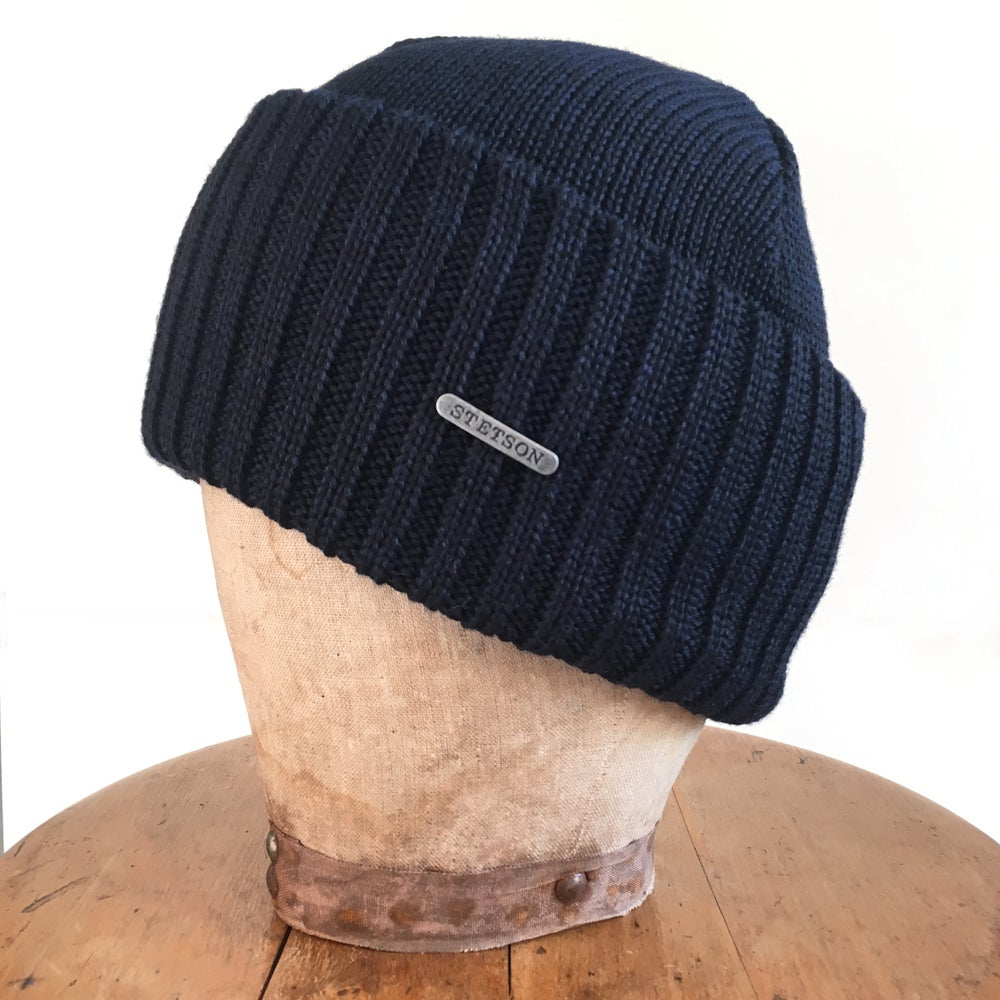 Image of STETSON BEANIE NORTHPORT NAVY