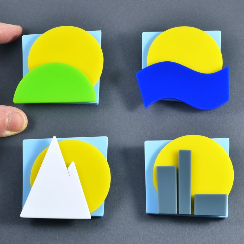 Image of Landscape Brooches