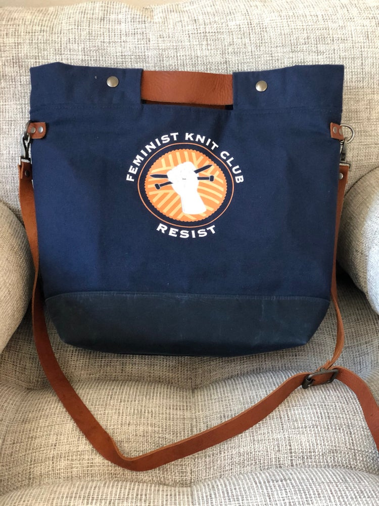 Image of PRE ORDER Feminist Knit Club Crossbody Tote