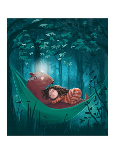 Image of Fine Art Print 'Wombat Snuggle'