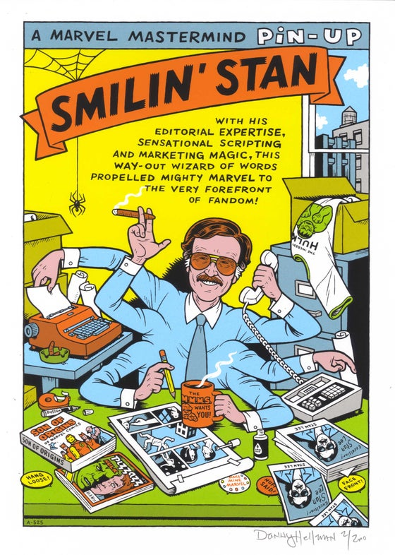"Image of ​​ ""SMILIN' STAN,"" SIGNED, LTD ED SCREEN PRINT"