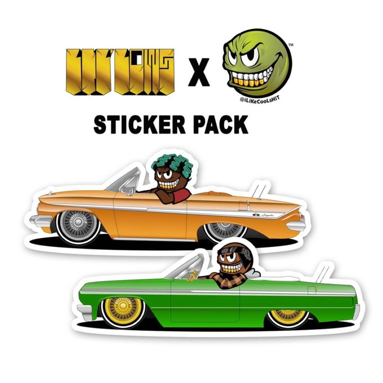 Image of iLiKeCoOLsHiT ❌ LiL LoWs Collab Sticker Pack