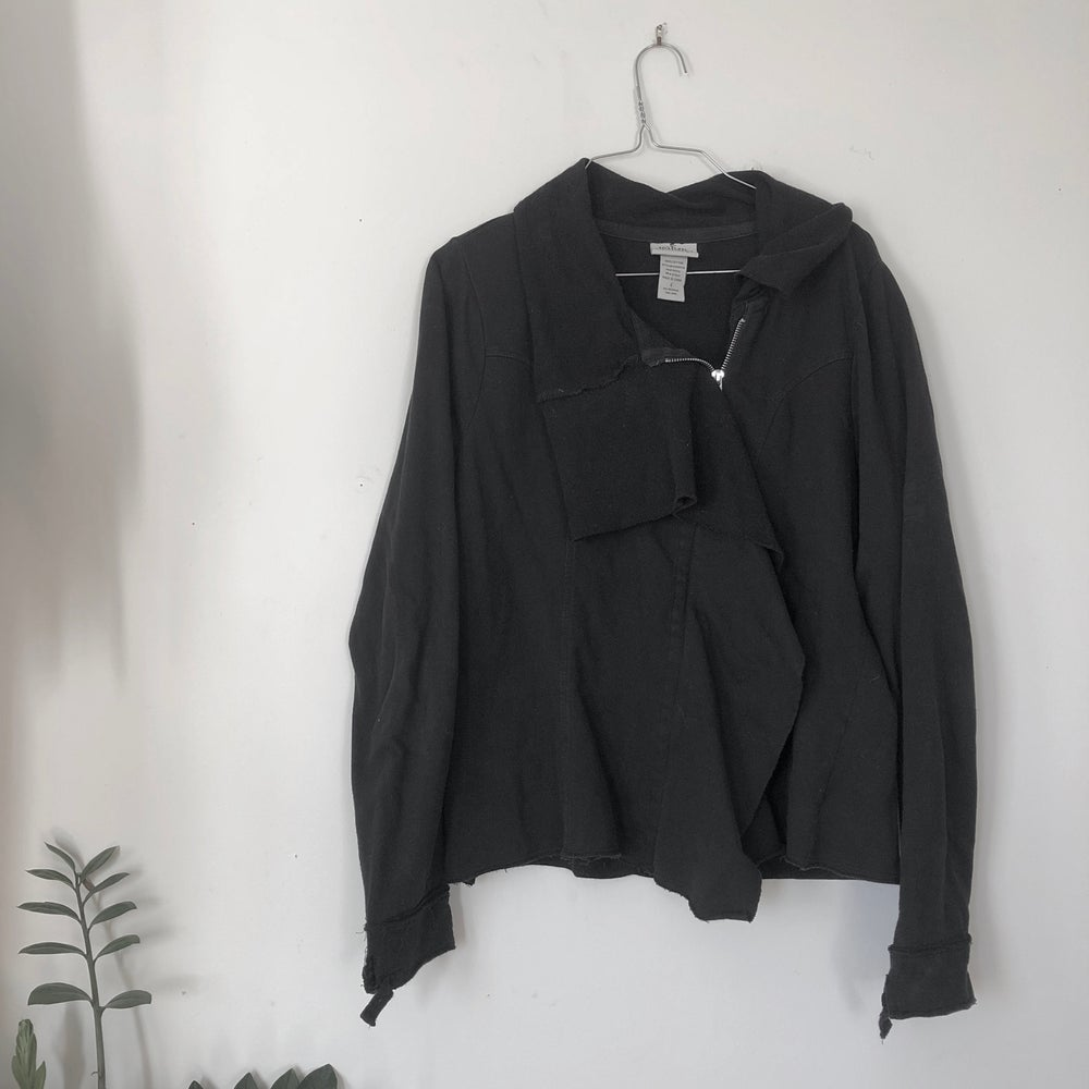 Image of Black Draped Sweatshirt