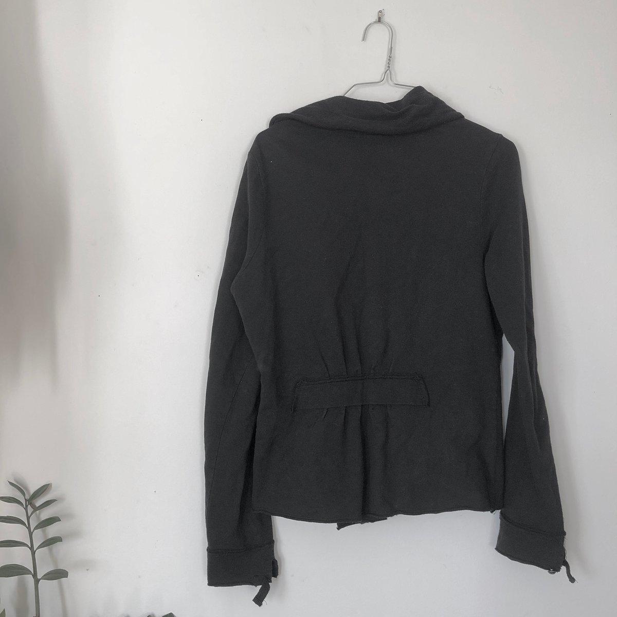 Image of Black Draped Sweatshirt