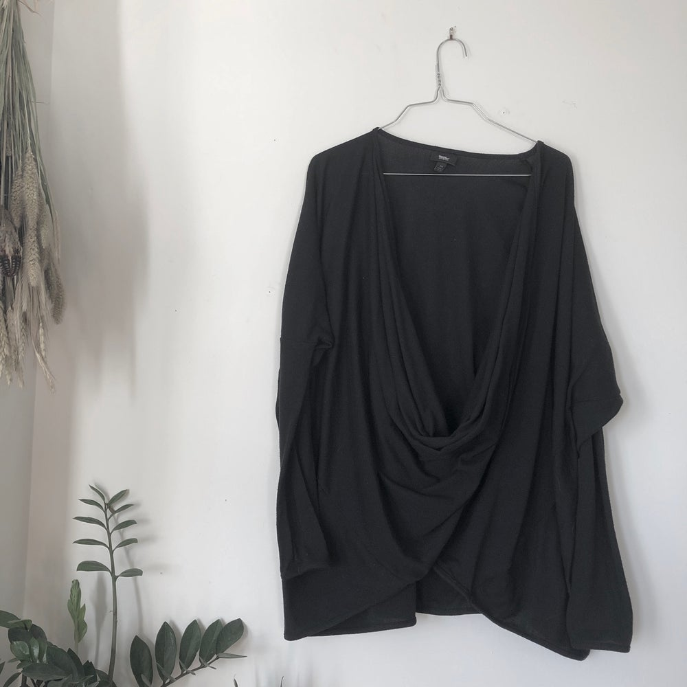"Image of Black Cowl Neck ""Cardigan"""