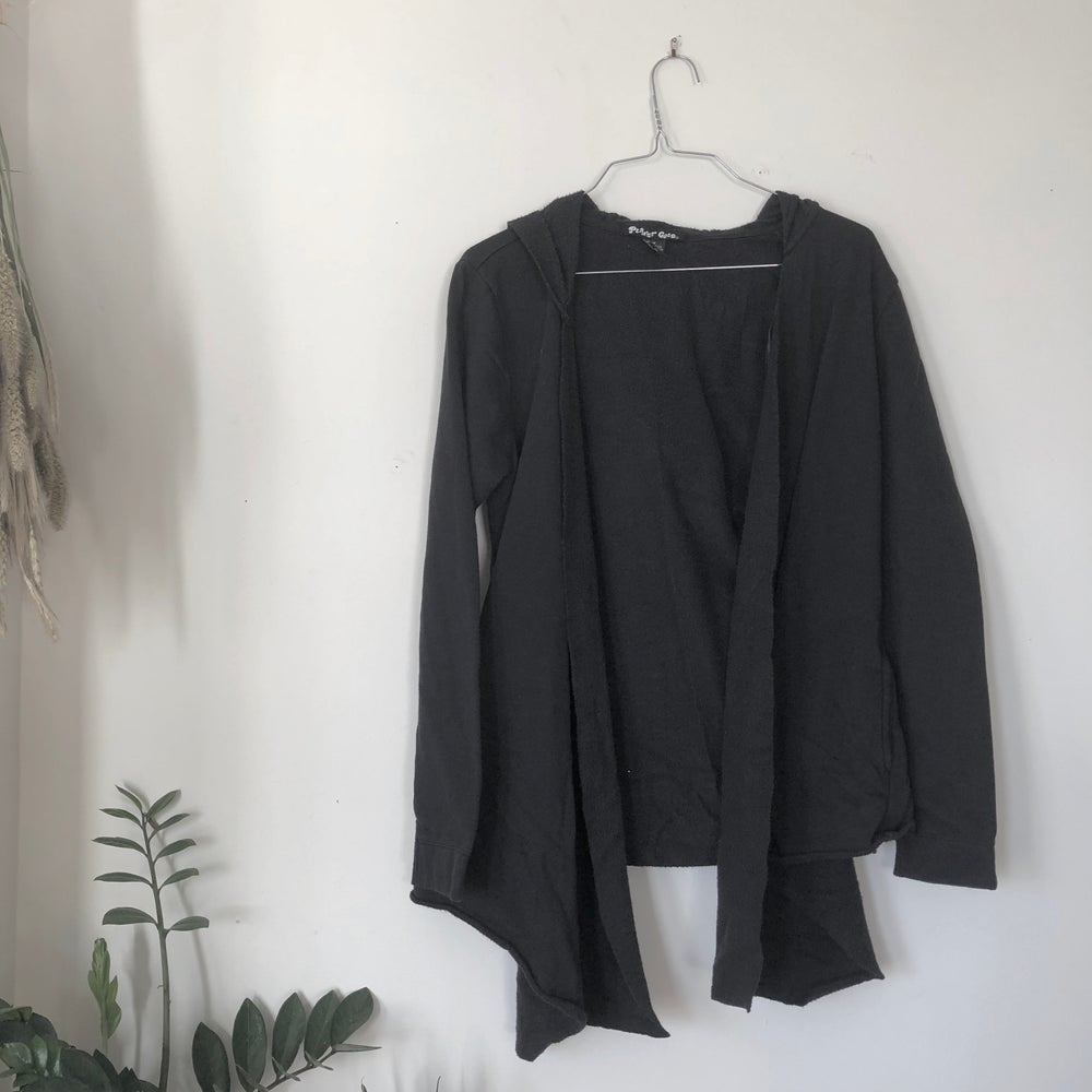 Image of Open Draped Hoodie