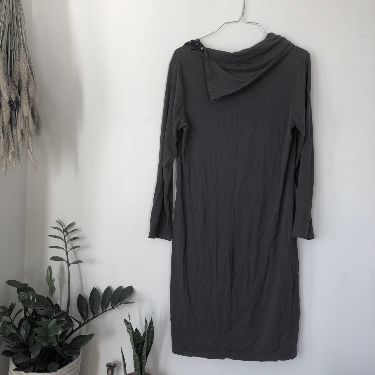 Image of Gray Snap-Cowl Tunic