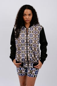 "Image of Abstract Print ""Ident"" Bomber"