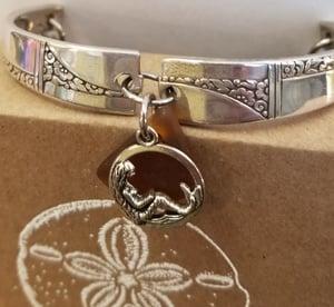Image of Vintage Flatware- Sea Glass- Bracelet- w/ Mermaid-#239