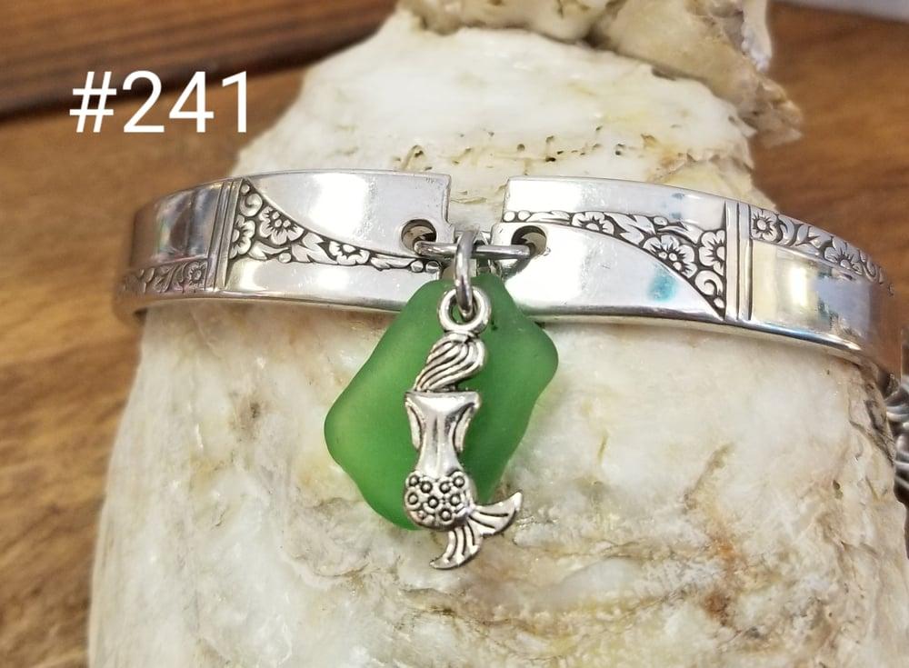 Image of Vintage Flatware-Sea Glass-Bracelet-Mermaid-#241