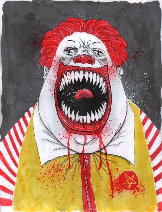 Image of FAST FOOD FIENDS PAINTINGS