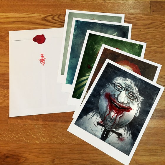 Image of FAST FOOD FIENDS PRINT SET