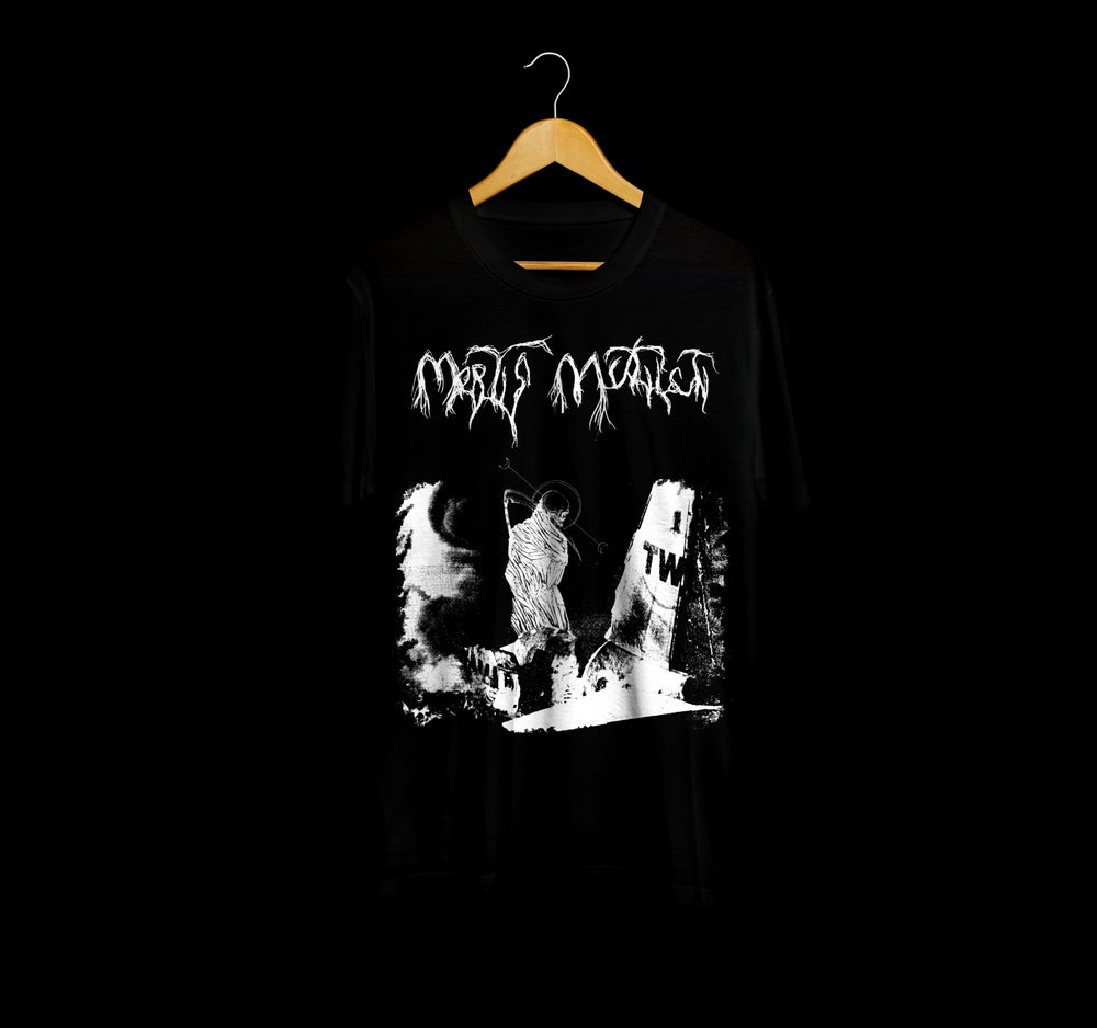 Image of Aerial disaster T-shirt Black