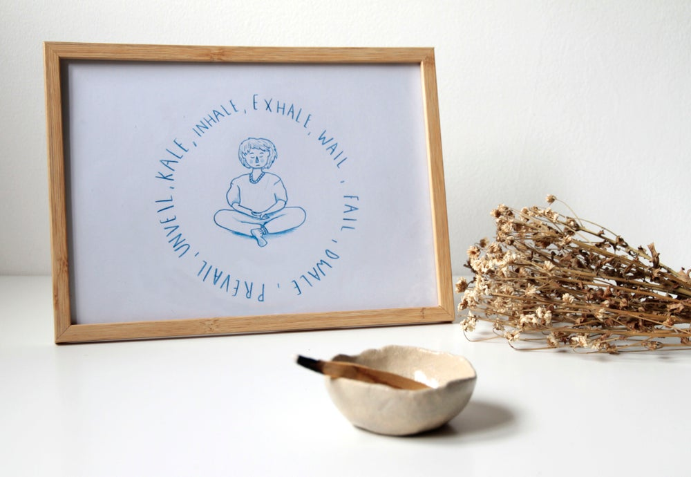 "Image of Print Illustration YOGA ""INHALE, EXHALE"""