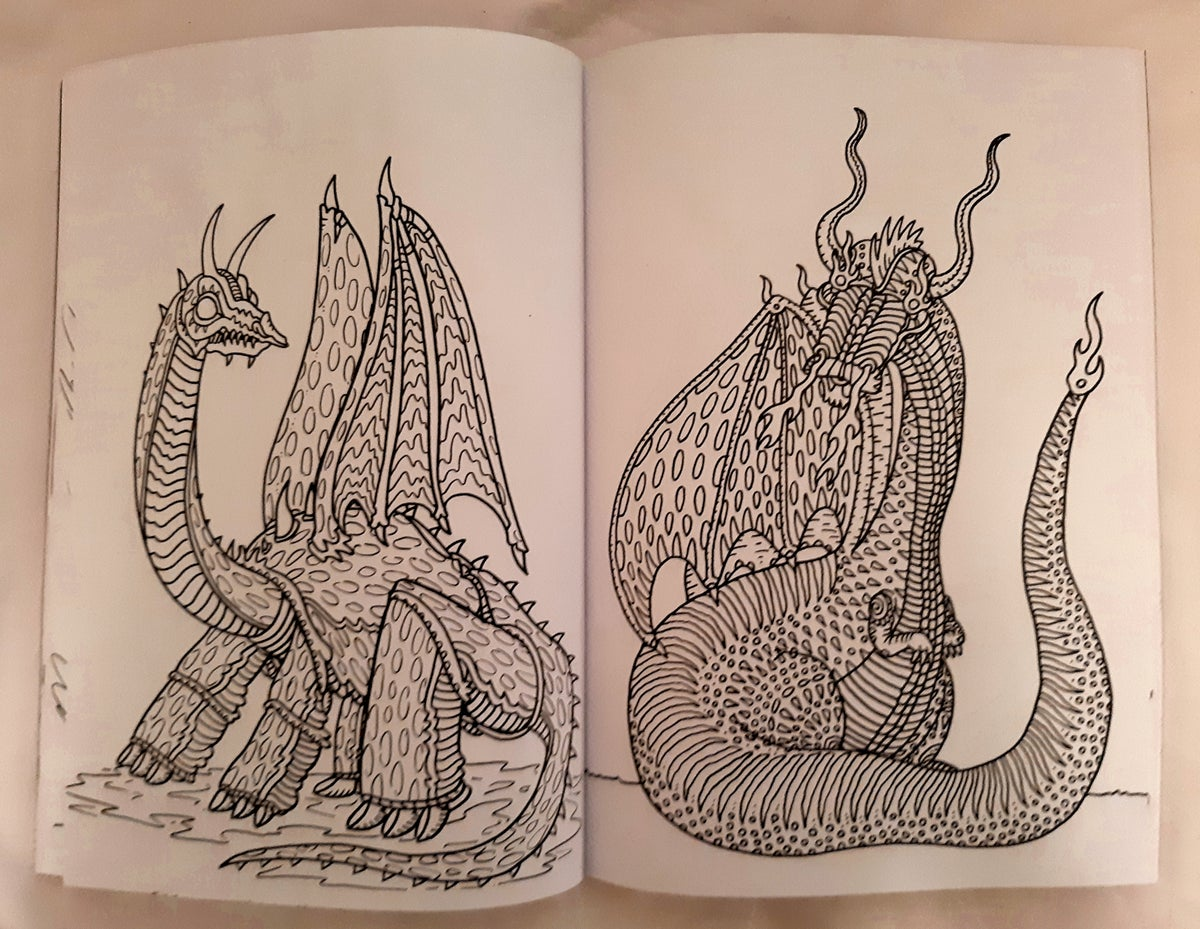 Image of Dragon Colouring Book