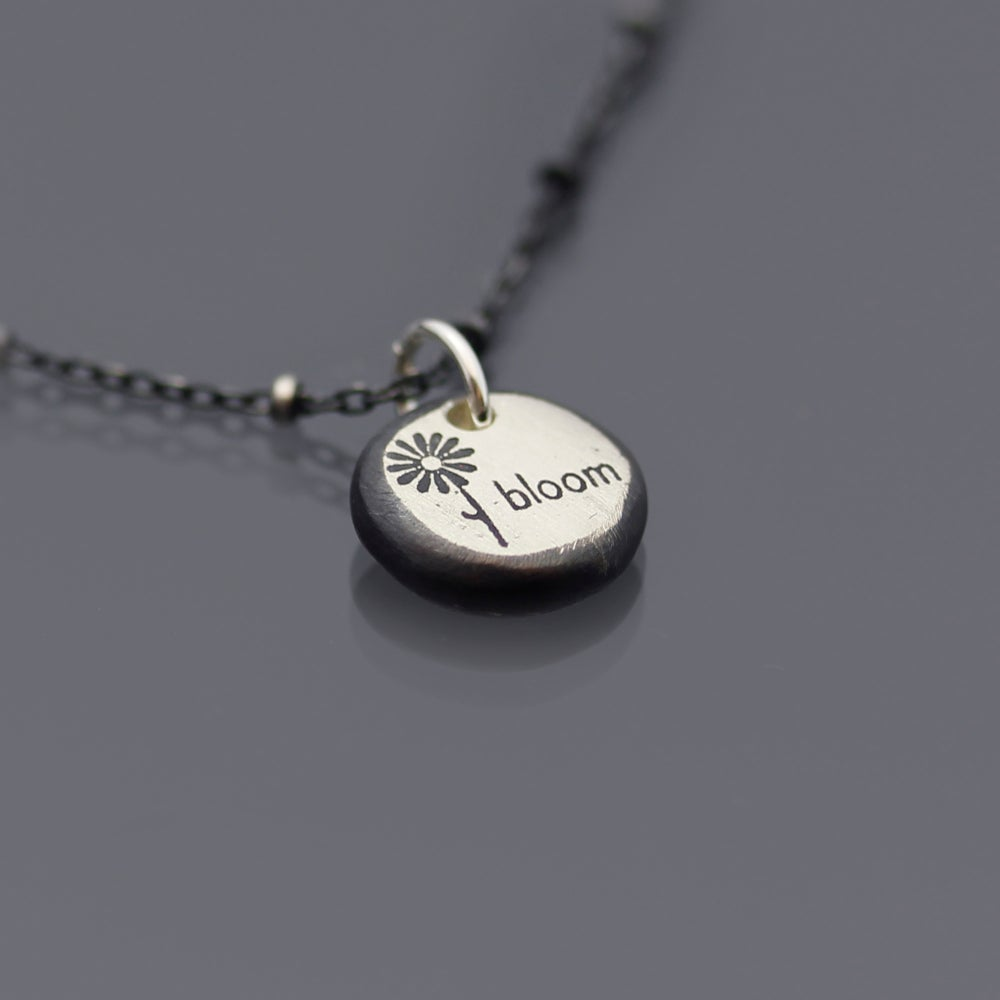 Image of Sterling Silver Nugget Bloom Necklace
