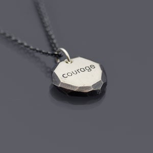 Image of Sterling Silver Nugget Courage Necklace