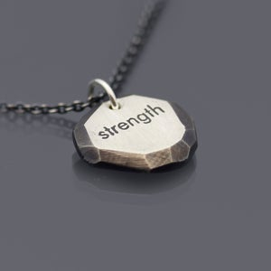 Image of Sterling Silver Strength Nugget Necklace