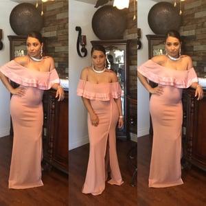 Image of Ebony Satin Dress