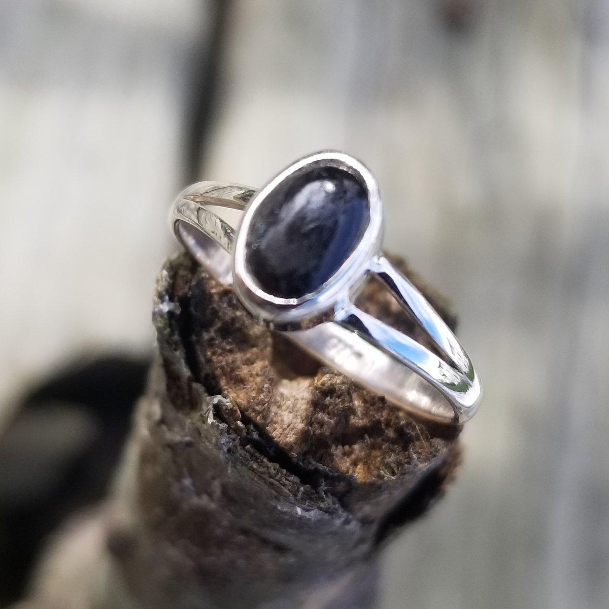 Image of Petite Noir Ring - Black Onyx in Sterling