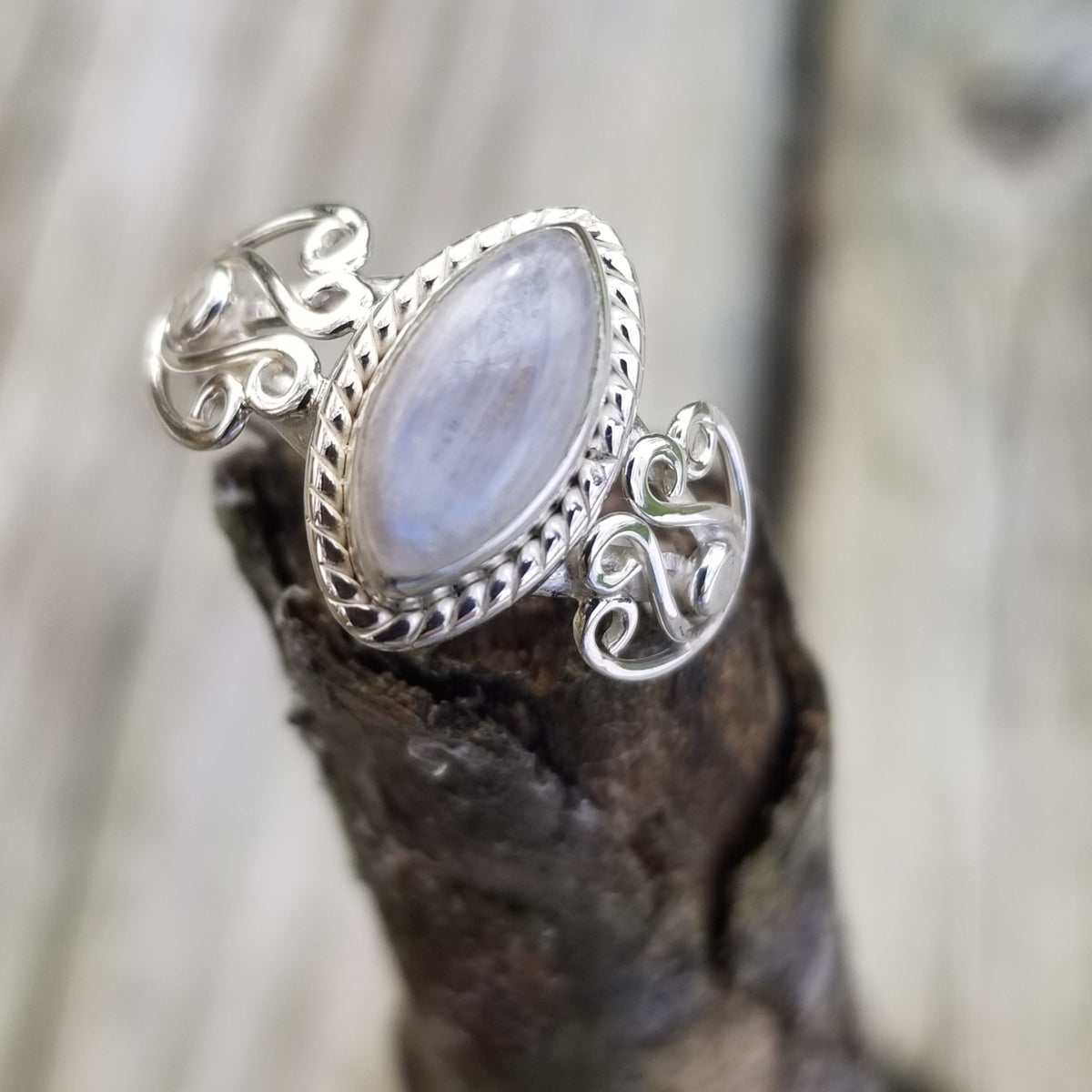 Image of Auria Ring - Moonstone in Sterling