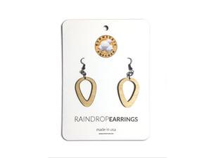 Image of RAIN DROP WOODEN EARRINGS