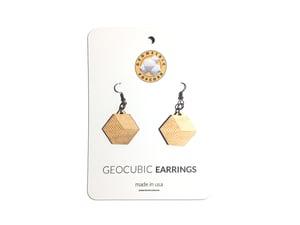 Image of GEOCUBIC WOODEN EARRINGS