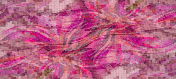 Image of Silk Cashmere Pink Tiger Lily Tiles