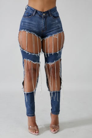 Image of Exposed Denim Jeans