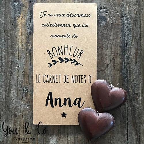 """Image of Carnet """"Moments de bonheur"""" personnalisable"""