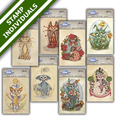 Image of Linda Ravenscroft Crazy Cats - Individual stamp sets