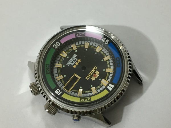 Image of ORIENT SK 21J JUMBO Divers Mens Complete Watch Kit.n.o.s.Rare.Black Dial
