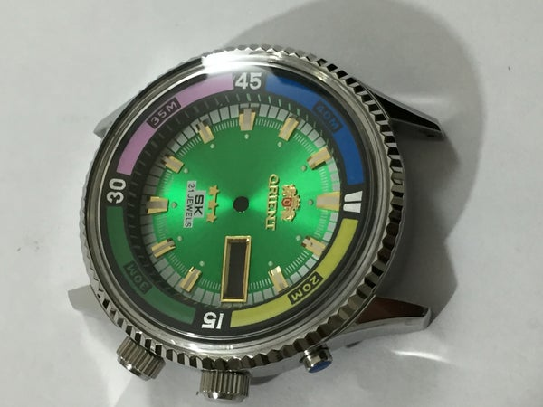 Image of ORIENT SK 21J JUMBO Divers Mens Complete Watch Kit.n.o.s.Rare.green Dial