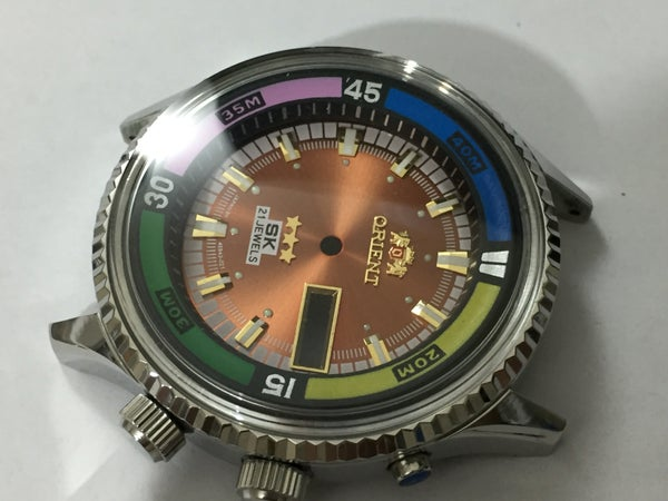 Image of ORIENT SK 21J JUMBO Divers Mens Complete Watch Kit.n.o.s.Rare.Brown Dial