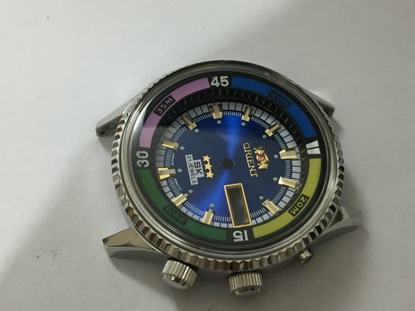 Image of ORIENT SK 21J JUMBO Divers Mens Complete Watch Kit.n.o.s.Rare.Blue Dial