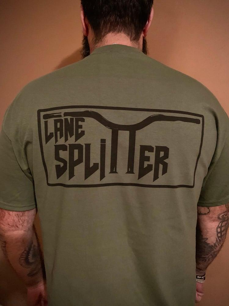 Image of LIMITED RUN military green Handlebar Logo Tshirt