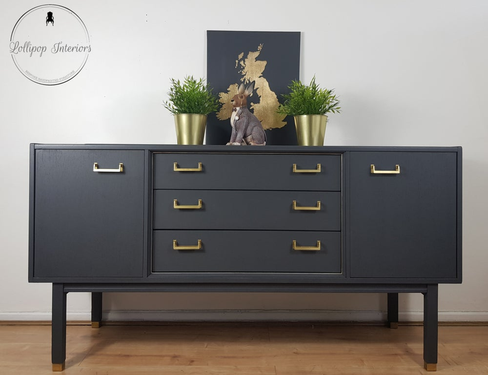 Image of 1962 G plan sideboard in ash grey