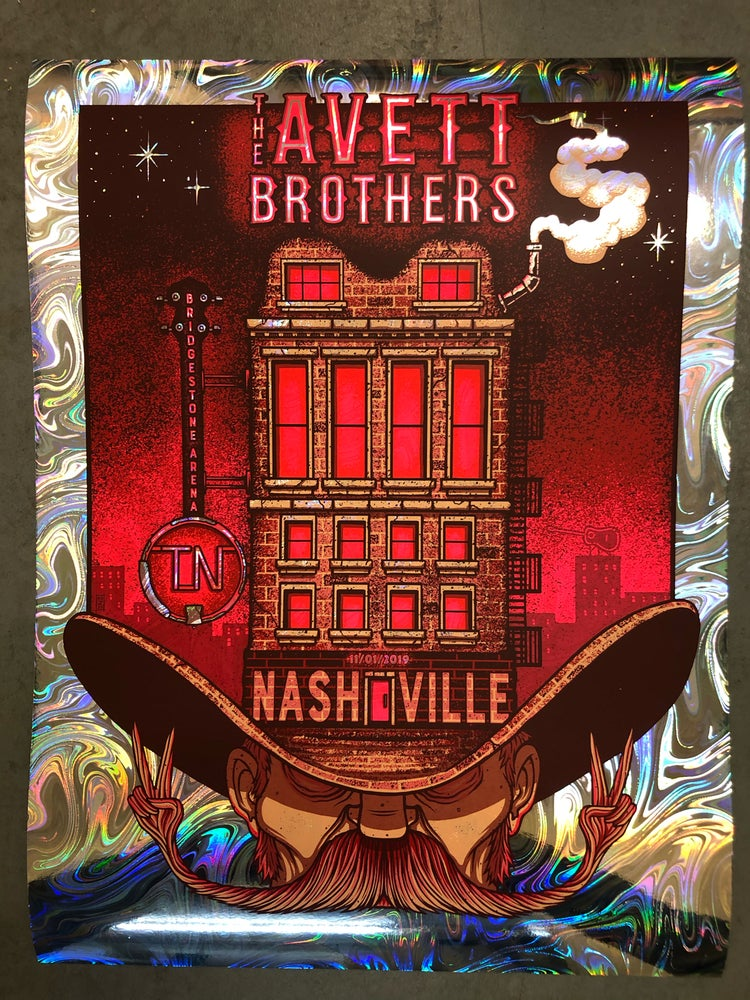 Image of The Avett Brothers - November 1st, 2019 - Nashville, TN - Swirl foil edition