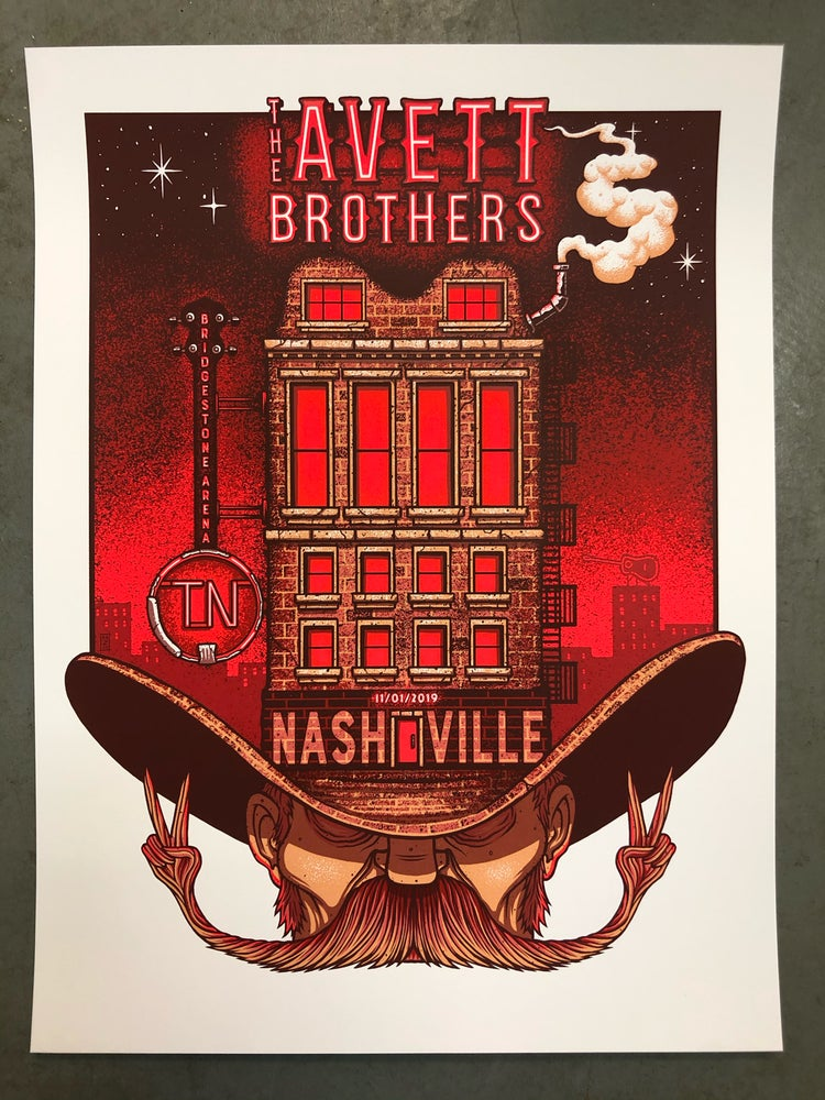 Image of The Avett Brothers - November 1st, 2019 - Nashville, TN - Artist Edition