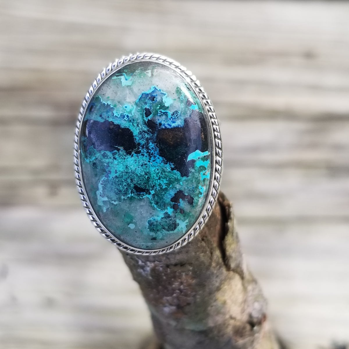 Image of Octay Ring - Chrysocolla in Sterling