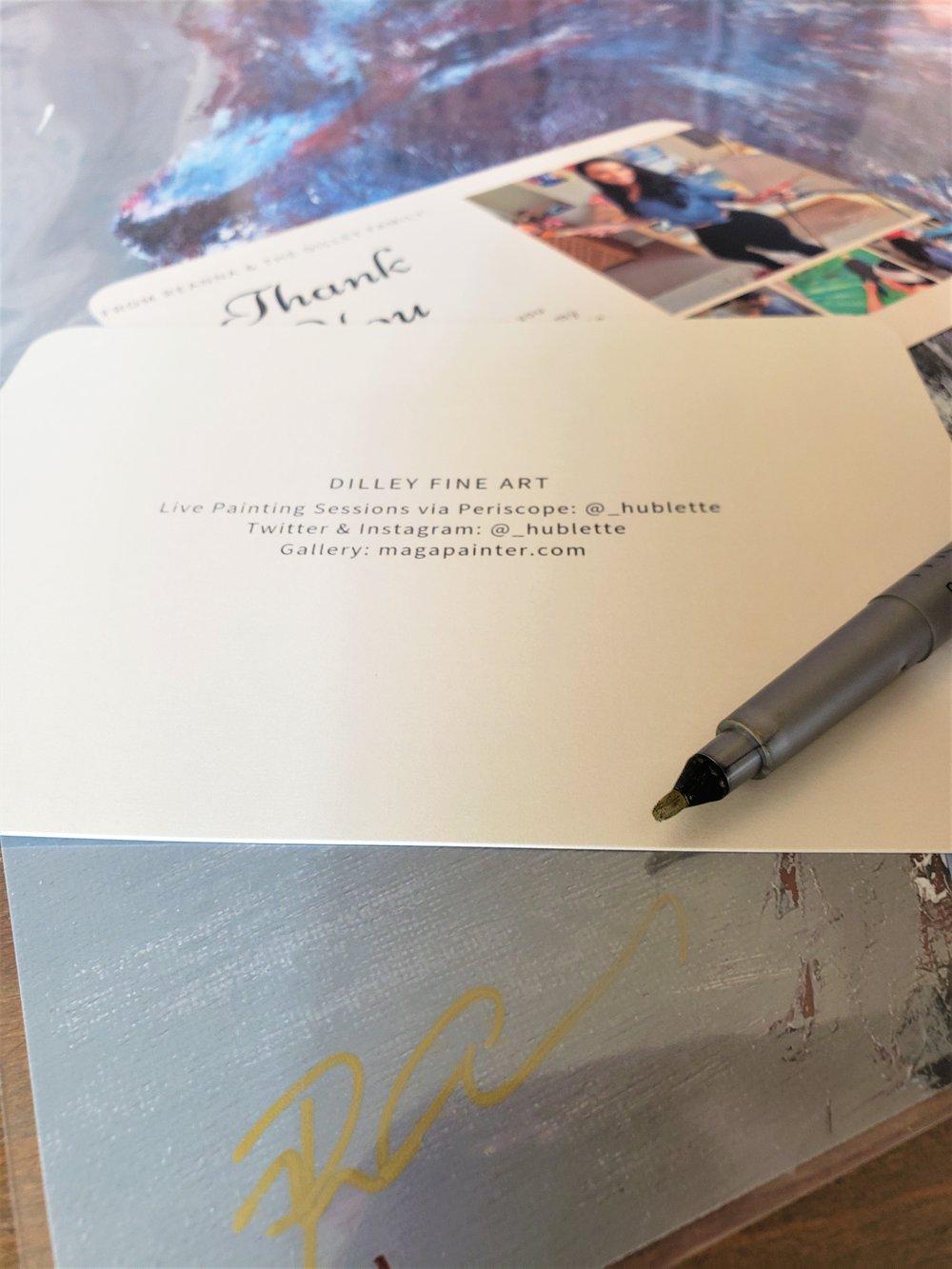 Image of Artist Signature on Merchandise