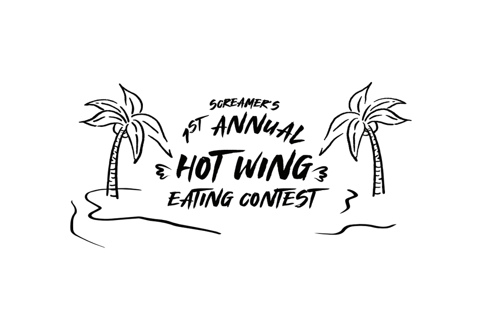 Image of Screamers 1st Annual Hot Wing Eating Contest and T Shirt!