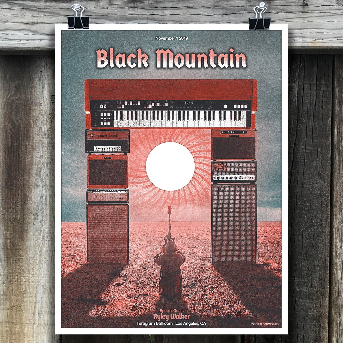 "Black Mountain • Los Angeles 2019 • 18""x24"" screen printed poster"