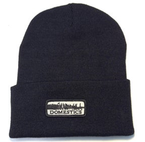 Image of DOMEstics. Black Skull Cap