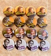 Set of 4 Large African American Writers Badges