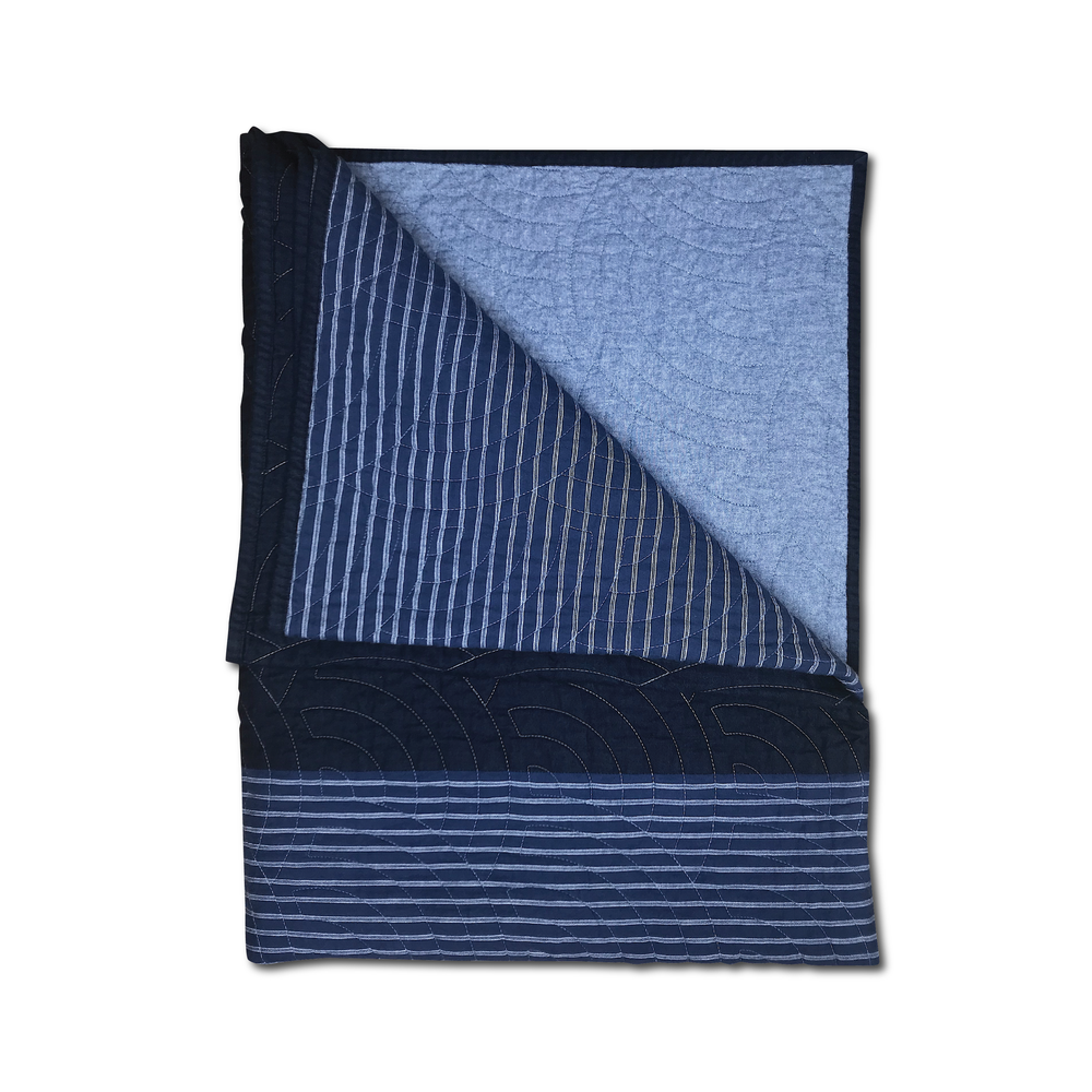 Image of RYE® QUILTED BLANKET INDIGO