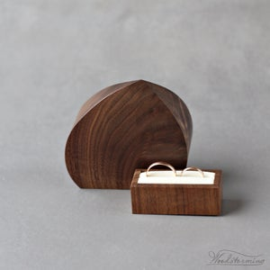 Image of Double ring box - wedding ring box - wedding ring holder inspired by the sea